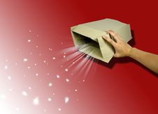 Free Open Magic Gift Box Stock Photo - 18806850