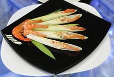 Free Cold Appetizer Of Shrimp With Vegetables Royalty Free Stock Image - 18807086