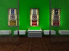 Free Interior Design Of Modern Bar Royalty Free Stock Photography - 18807137