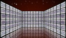 Free Glass Block Wall Room On Night Sky Stock Photography - 18807212