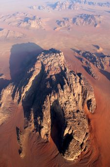 Wadi Rum Desert From Above. Jordan Royalty Free Stock Image