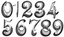 Free Filmstrip Font. Numbers Pack Stock Images - 18808254