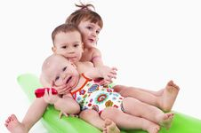 Free Three Children In Swimsuits Royalty Free Stock Photo - 18808765