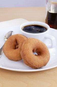 Free Maple Syrup Donuts Royalty Free Stock Photography - 18809187