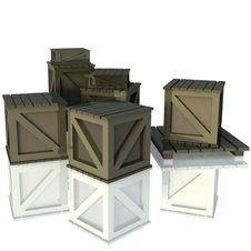 Free 3D Crates Stock Photography - 18809242
