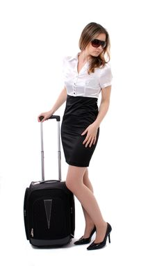 Free Business Woman Going On A Business Trip Royalty Free Stock Photos - 18809668