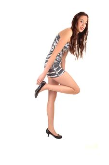 Free Girl Holding Heel. Stock Photo - 18809750