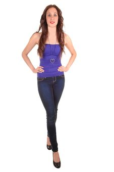 Free Girl In Jeans. Stock Photography - 18809782