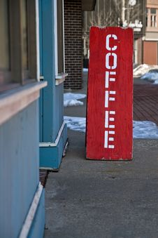Free Coffee Shop Sign Stock Image - 18809941