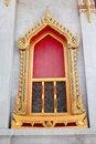 Free Buddhist Monastery Window , Bangkok Thailand Stock Images - 18819424