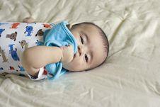 Free Happy Beautiful Hispanic Baby Boy Plays Peek-a-boo Royalty Free Stock Image - 18810276