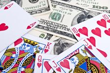 Free Royal Flush In Poker Royalty Free Stock Images - 18811909