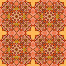 Ornamental Tiles Orange Stock Image