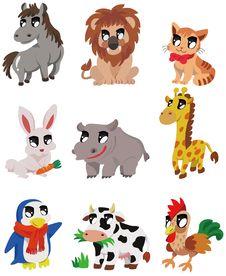 Cartoon Animal Icon Royalty Free Stock Image