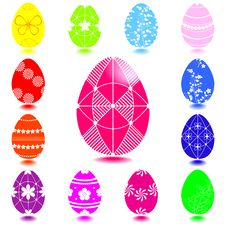 Free Set Of Easter Eggs. Stock Images - 18812494