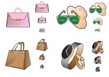 Free Accessory Icons In A Different Size Royalty Free Stock Photos - 18812958