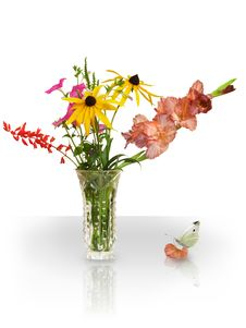 Free Bouquet And Butterfly Stock Photography - 18813202