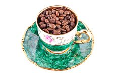 Free Cup Of Coffee Beans Stock Photos - 18813413