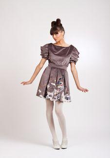 Free Young Beautiful Fashion Brunette Posing Stock Photo - 18814530