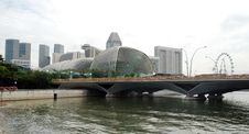Free The Esplanade Theatre Singapore Stock Photography - 18814892