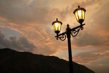 Free Street Lamps Royalty Free Stock Photo - 18814935