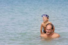 Free Father And Son In Water Stock Photo - 18814970