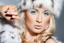 Free Fashionable Woman In Fur Royalty Free Stock Photo - 18815075