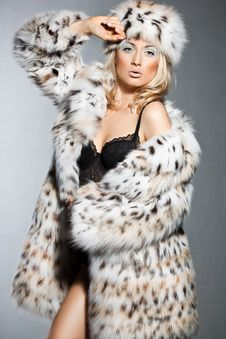 Free Woman In Fur Royalty Free Stock Photos - 18815078