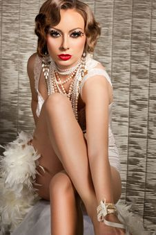 Free Woman With Art Visage - Burlesque Stock Photos - 18815083