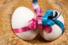 Free Boy And Girl Egg In A Hat Royalty Free Stock Photo - 18815755