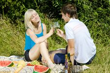 Free Couple At A Picnic Stock Image - 18816391
