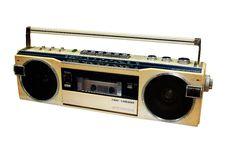Free Classic Radio Isolated On White Background Royalty Free Stock Image - 18818726