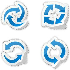Free Arrow Blue Stickers. Stock Photography - 18819102