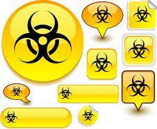 Free Virus Yellow Signs. Stock Photography - 18819192