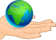 Save Earth - Africa. Royalty Free Stock Photo