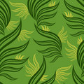 Free Seamless Green Floral Pattern With Leafs Royalty Free Stock Image - 18820726