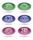 Free Set Of Store Signs Royalty Free Stock Image - 18822336