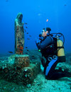 Free Diver And Madonna Stock Photography - 18822862