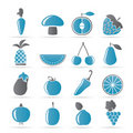 Free Different Kinds Of Fruits And Vegetable Icons Royalty Free Stock Image - 18825706