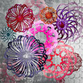 Free Funky  Style Floral Design Background Royalty Free Stock Photos - 18829508