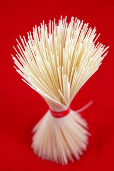 Free Pasta Noodles Tied On The Red Stock Photography - 18820802