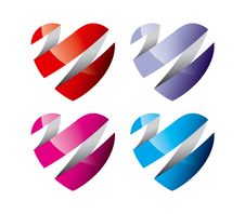 Free Colorful Hearts Stock Photography - 18821332