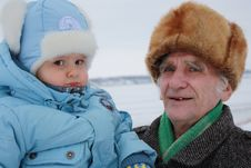 Free Old Man With A Great-grandson. Stock Photography - 18821772