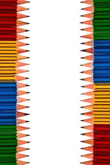 Free Pencils On White Background Royalty Free Stock Images - 18821999