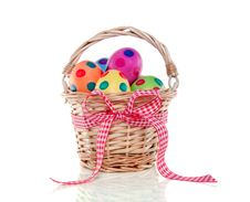 Free Colorful Easter Eggs Painted Royalty Free Stock Image - 18822006