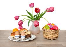 Free Lunch Decorated With Tulip Flowers Royalty Free Stock Image - 18822126