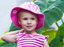 Free Beautiful Little Girl In A Hat Stock Image - 18822231