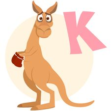 Free The English Alphabet. Kangaroo Stock Image - 18822261