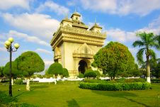 Free Vientiane. Victory Gate Stock Photography - 18822392