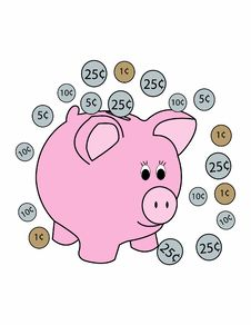 Free Piggy Bank Stock Photography - 18822792